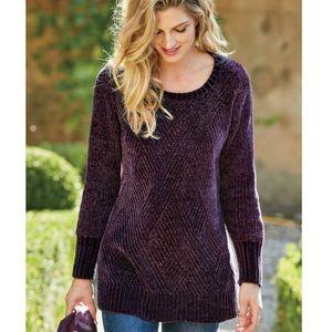 Soft Surroundings Deco Chenille Pullover Sweater